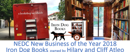 Iron Dog Books unique bookstore wins NEDC Best New Business 2018