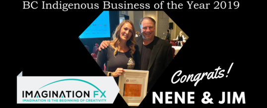 Imagination FX wins BC Indigenous Business Award 2019!